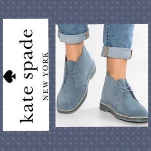 Kate Spade Blue Gray Suede Desert Boots